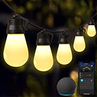 Govee 48 Ft Smart Wi-Fi Outdoor String Lights with Bluetooth App Control