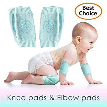 Baby Safety Crawling Protective Knee Elbow Pads Anti-slip Toddler Infant Kids
