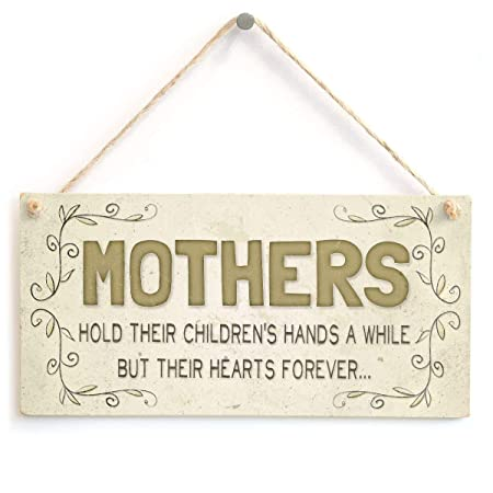 Mothers Hearts Forever Letrero de Placa de Madera Carteles ...