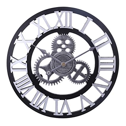 Mecotech ø 40 Cm Horloge Romaine Murale Vintage Pendule