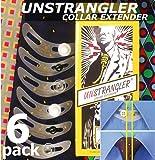 6-Pack UNSTRANGLER COLLAR EXTENDER / Collier Bouton Extenseur/Expandeur. Ajouter 1,5 cm Comfort Supplémentaire à tous les Cols de chemises lorsque vous portez une cravate.