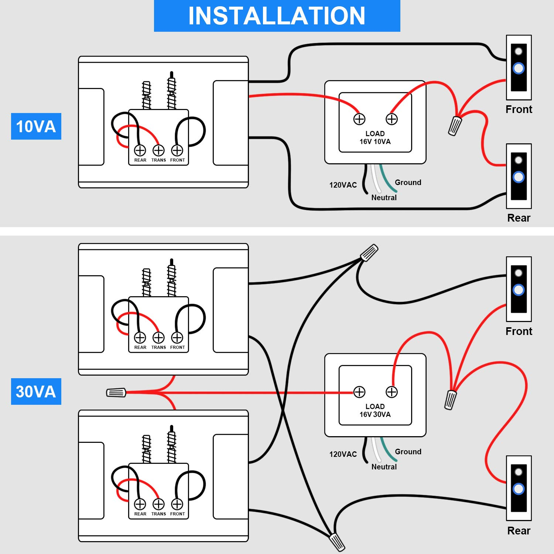 doorbell transformer compatible with ring video doorbell pro 16v