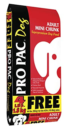 Pro Pac, Adult Mini Chunk, 44 Pound Bag