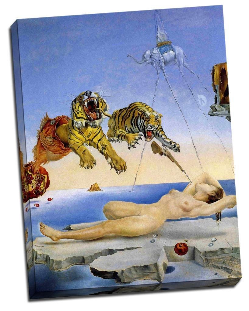 Amazon com panther print salvador dali tigers canvas print art poster 24 x18 inches 61cm x 46cm posters prints
