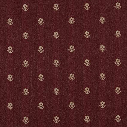 Amazon Com C622 Burgundy And Beige Flowers Country Style Upholstery