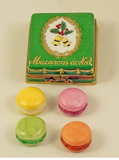 Christmas Macarons.Amazon Com Authentic French Porcelain Hand Painted Limoges
