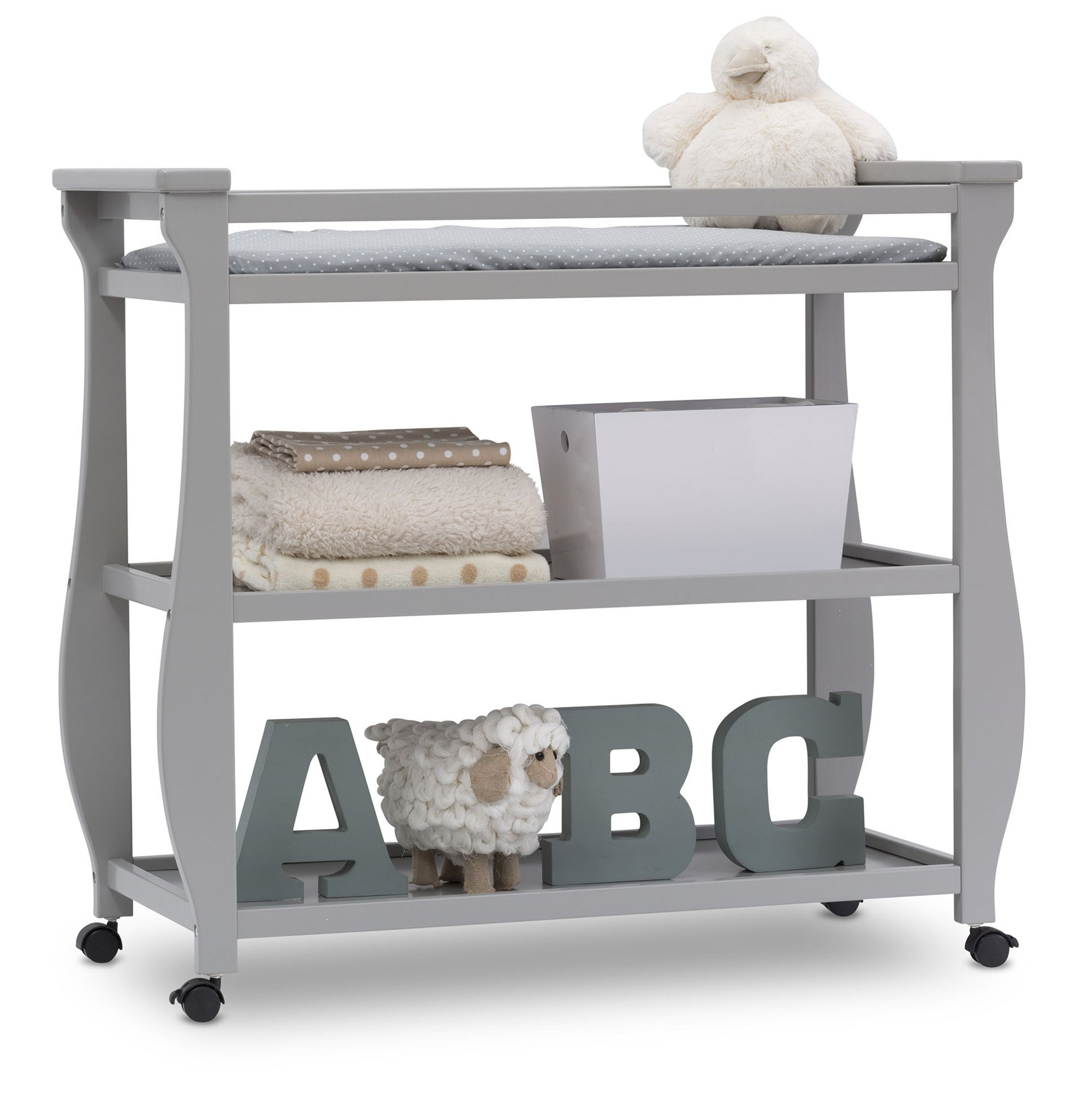 Delta Children Lancaster Changing Table, Grey by Delta Children (Image #5)