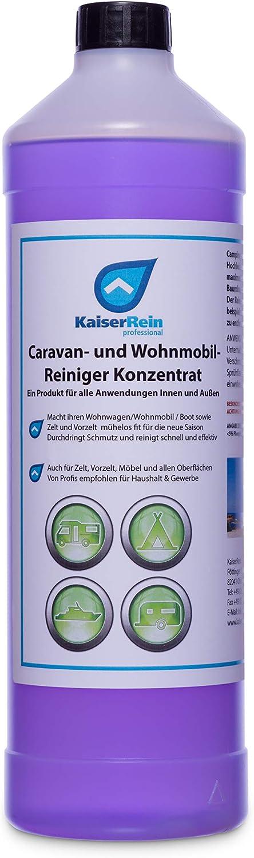 Kaiserrein Camping Reiniger 1l Für Wohnwagen Reiniger Wohnmobil Boot Zelt Vorzelt Reiniger Konzentrat Für Aussen Und Innen Auto