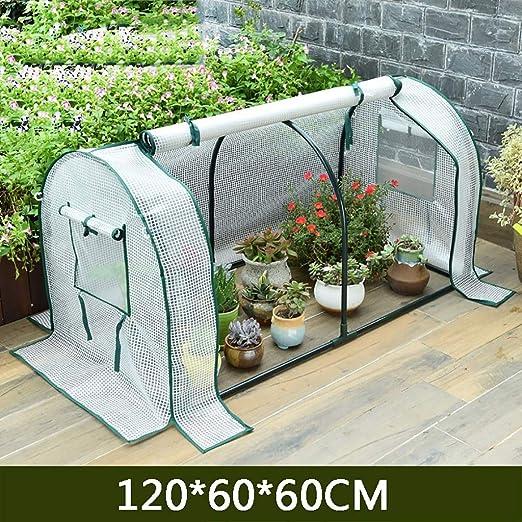 TWS Aislamiento al Aire Libre del jardín del Invernadero Que Cubre la Lluvia PE 120 * 60 * 60CM: Amazon.es: Hogar