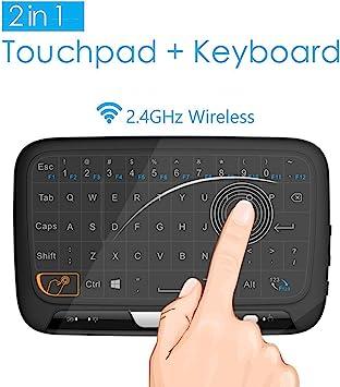 Mini Teclado Inalámbrico portátil ergonómico con touchpad (RF 2.4 ...