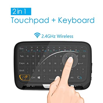 Mini Teclado Inalámbrico portátil ergonómico con touchpad (RF 2.4 GHz, USB), Compatible