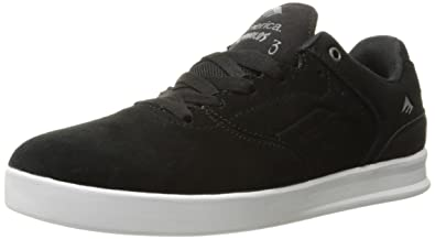 Emerica Men's The Reynolds Low Skateboarding Shoe, Black/Silver, ...