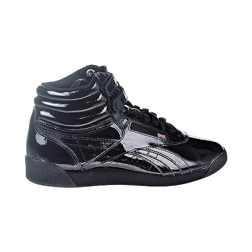 Maestría espíritu acerca de  Buy Reebok Women's Freestyle Hi Patent Sneakers, Black, 7 at Amazon.in