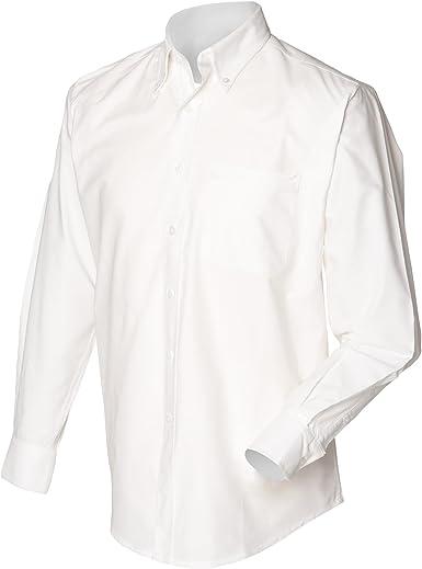 Henbury - Camisa Clásico manga larga Modelo Oxford Work hombre caballero - Trabajo/Fiesta/Boda