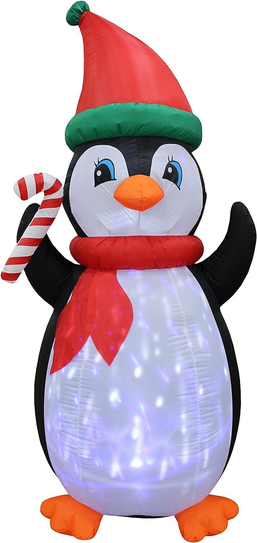Amazon.com: Pingüinos hinchables de Navidad con luces ...