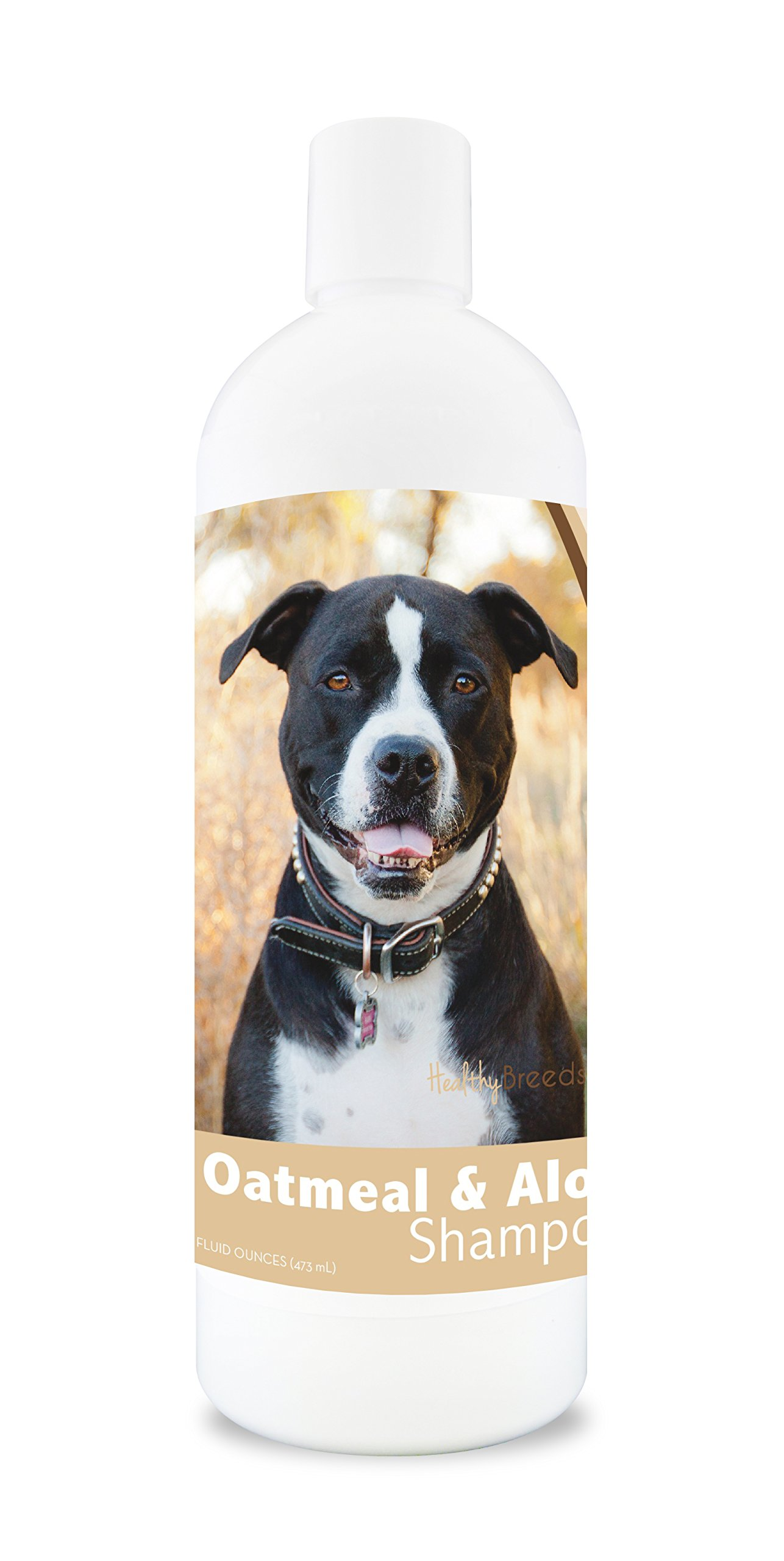 Healthy Breeds Dog Oatmeal Shampoo with Aloe for Pit Bull - Over 75 Breeds - 16 oz - Mild and Gentle for Itchy, Scaling, Sensitive Skin - Hypoallergenic Formula and pH Balanced by Healthy Breeds