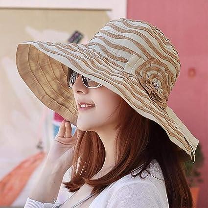Eeayyygch Sombrero de Mujer Sombrero de señora Sombrero de Verano Sombrero  de Sol Sombrero de Paja f3b96b350a7