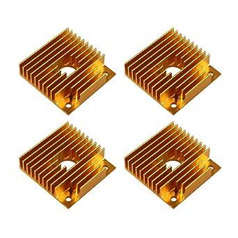 4 accesorios de impresora 3D 40 mm disipador de calor de aluminio ...