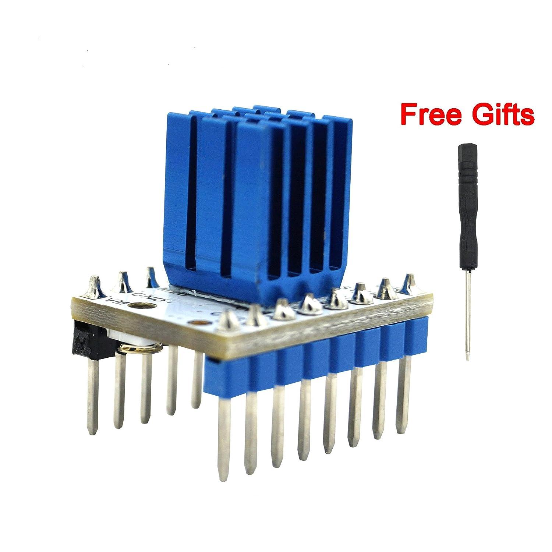 5Pcs 3D Printer Motherboard Accessories Silent Stepper Motor Driver TMC2100 Eraser Filter Jitter Elimination for 3D Printer A4988 LV8729 DRV8825 TMC2100 TMC2208 TMC2130 Driver