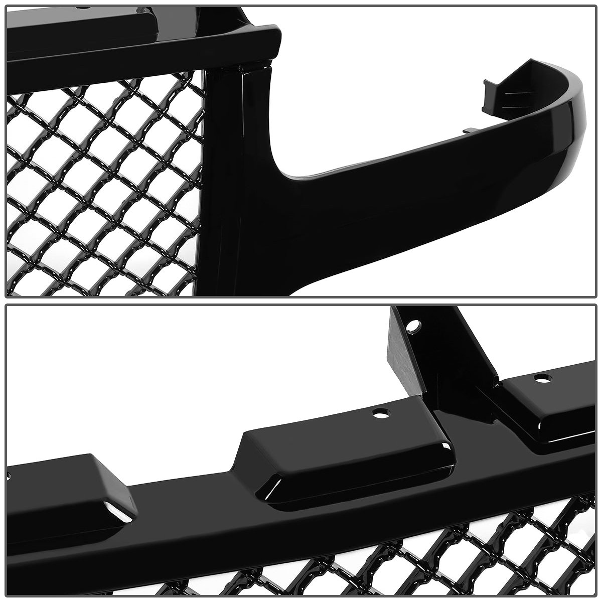 amazon for silverado tahoe suburban badgeless diamond mesh 01 Chevy Silverado 1500 amazon for silverado tahoe suburban badgeless diamond mesh front upper bumper grille guard glossy black gmt800 1500 automotive
