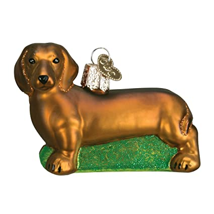 old world christmas dachshund glass blown ornament - Christmas Dachshund