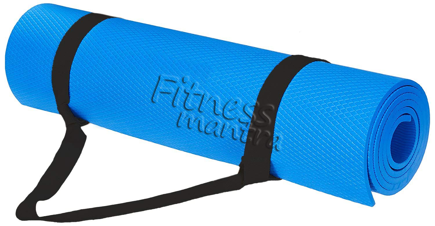 Fitness Mantra® 6MM Anti Skid, Light Weight, Extra Large Made by EVA Quality Yoga Mat with Shoulder Strap - Yoga Mat