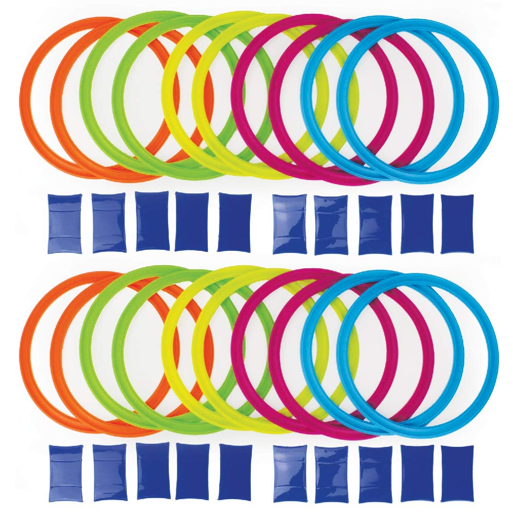 Boley Party Pizzazz! Hopscotch Ring Set with 20 Hoops and 20 Connectors - Great for Outdoor Play at The Park for Boys and Girls! by Boley