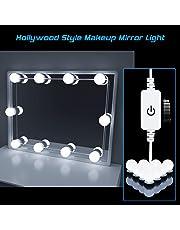Luces de Espejo de Tocador, HogarTech Lámpara de Espejo Regulable 10 Bombillas LED Kit De