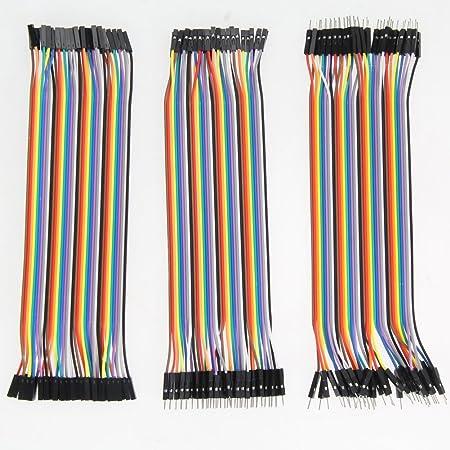 Demiawaking 120pcs 20cm 2 54mm 1pin Jumper Kabel Female Computer Zubehör
