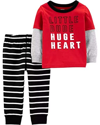 9fd5b15c6 Amazon.com: Carter's Baby Boys' 2-Piece Valentine's Day Set: Clothing