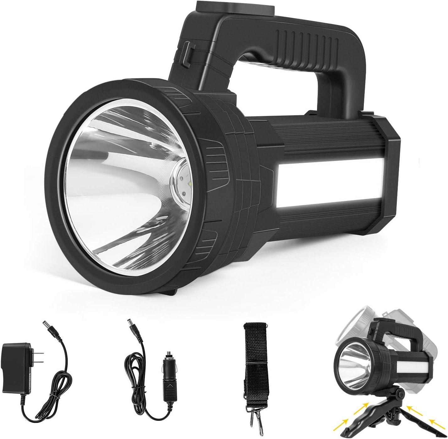 COB Searchlight Spotlight Flashlight USB Rechargeable Hand Torch Work Light Lamp