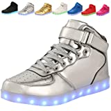 adituo Kids Girls and Boys High Top USB Charging
