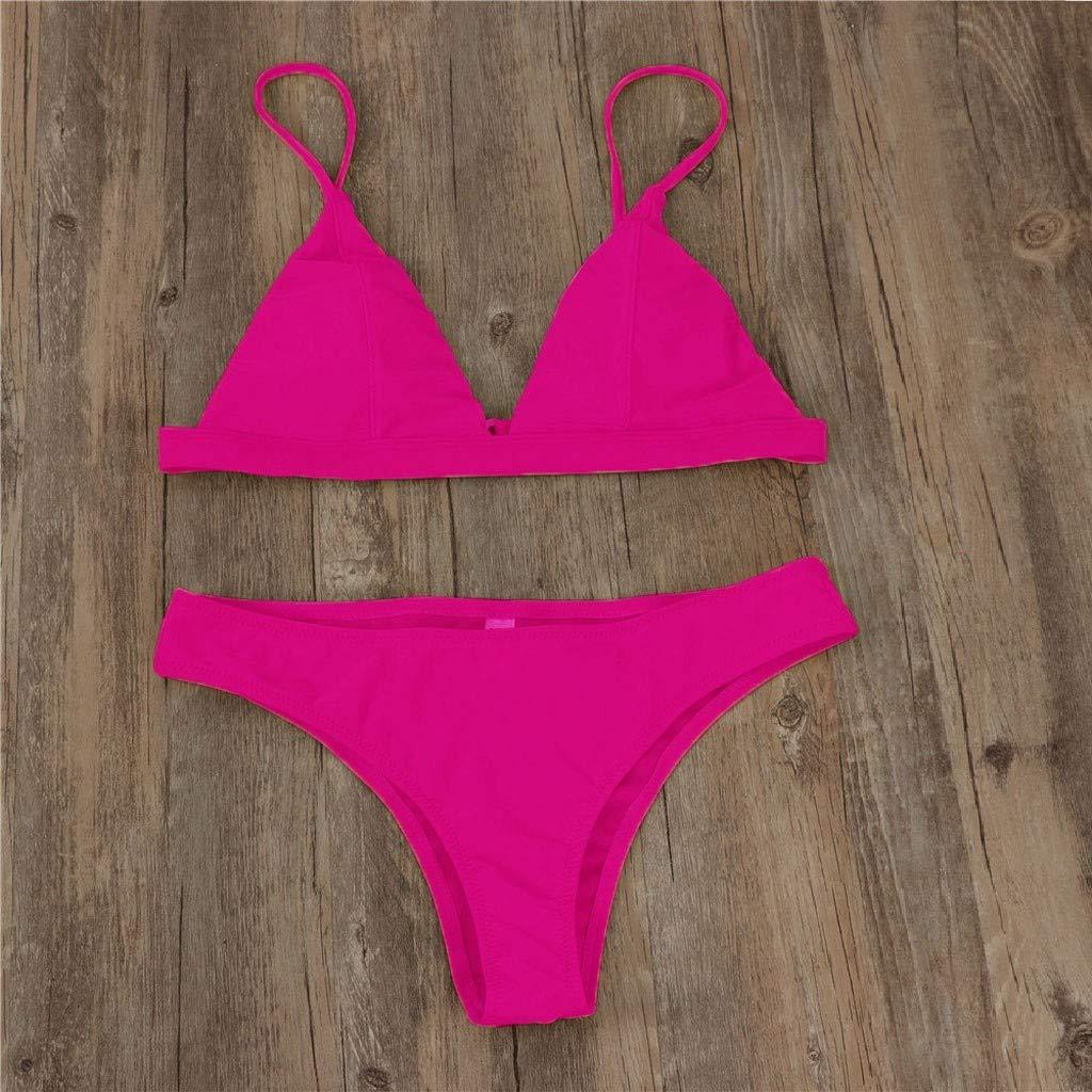NPRADLA Damen M/ädchen Einteiliges Riemchen-Bikini-Set In /Übergr/ö/ße Aus Festem Netzbadebekleidung