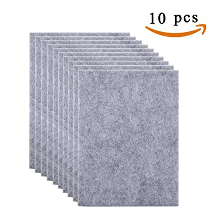 Anpatio 10pcs Furniture Feet Pads Heavy Duty Felt Pads Sheets Self Adhesive  For Sofa Chair Table