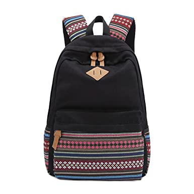 Amazon.com | Abshoo Causal Lightweight Canvas Cute School Bookbags ...