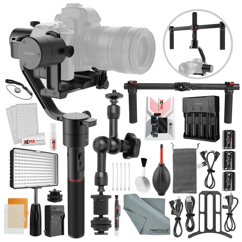 Moza Air 3軸電動ジンバルスタビライザー Xpixデラックスカメラクリーニングキット&アクセサリーバンドル   B07KFDQ6JD