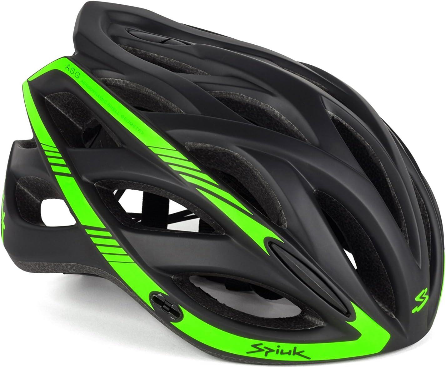 Spiuk Keilan - Casco Unisex, Color Negro/Verde, Talla 57-61 ...