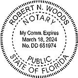 Florida Notary Round Seal Stamp