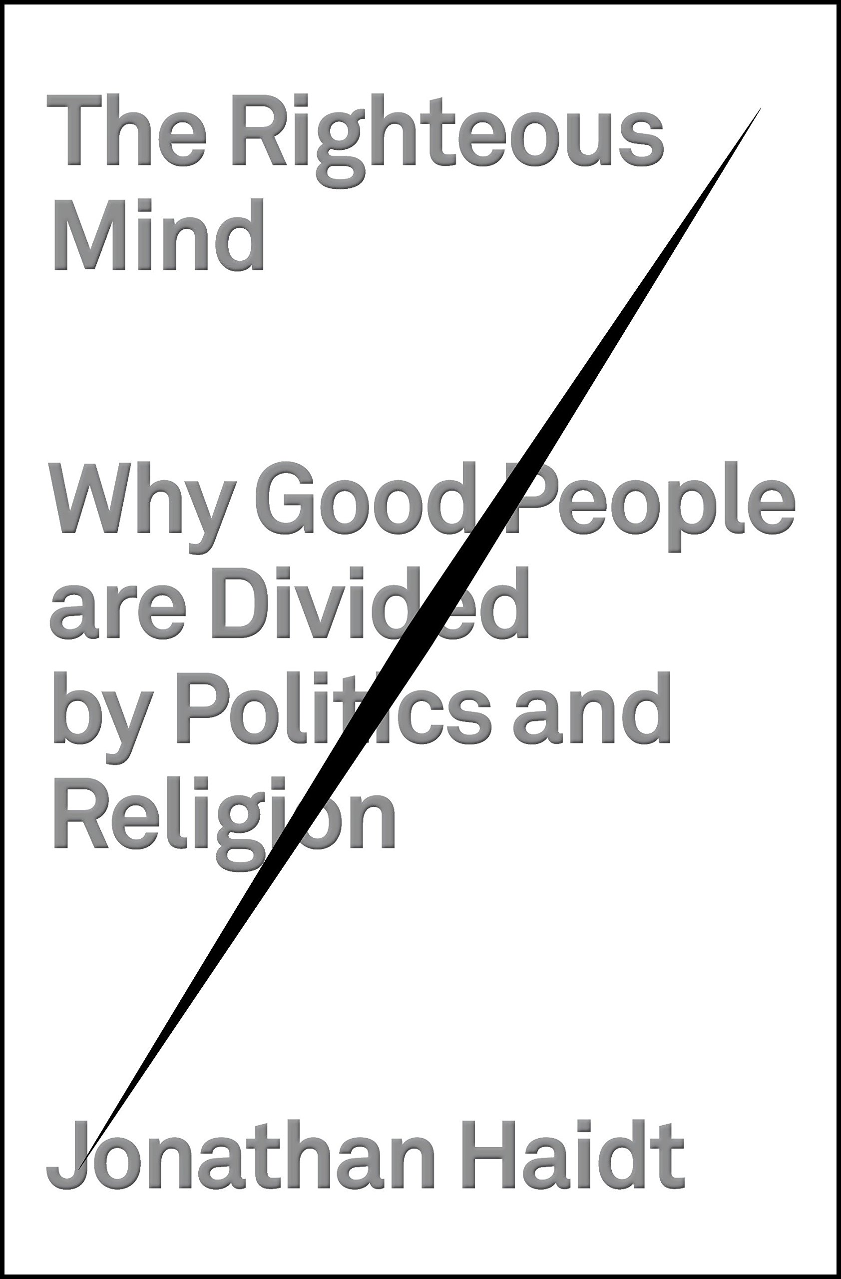 The Righteous Mind: Why Good People Are Divided by Politics and Religion:  Jonathan Haidt: 0884883510487: Books - Amazon.ca