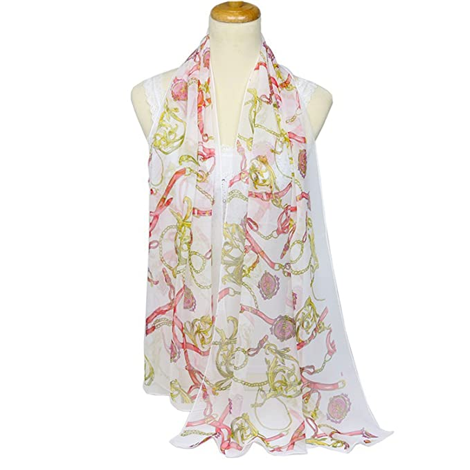95436fbf8 Ultra-thin ladies scarf belt georgette Silk scarf ribbon chain scarf sun shawl  scarf,