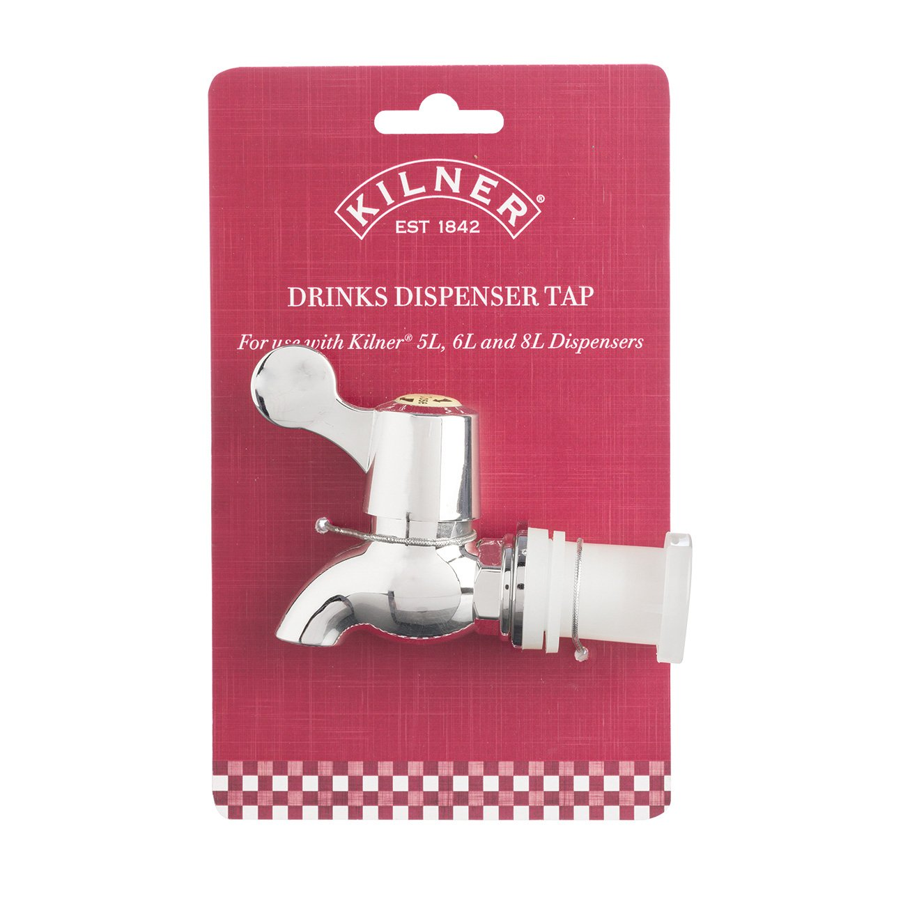 Kilner 25.835 Replacement Tap – for use Drinks Dispensers, Silver, One Size