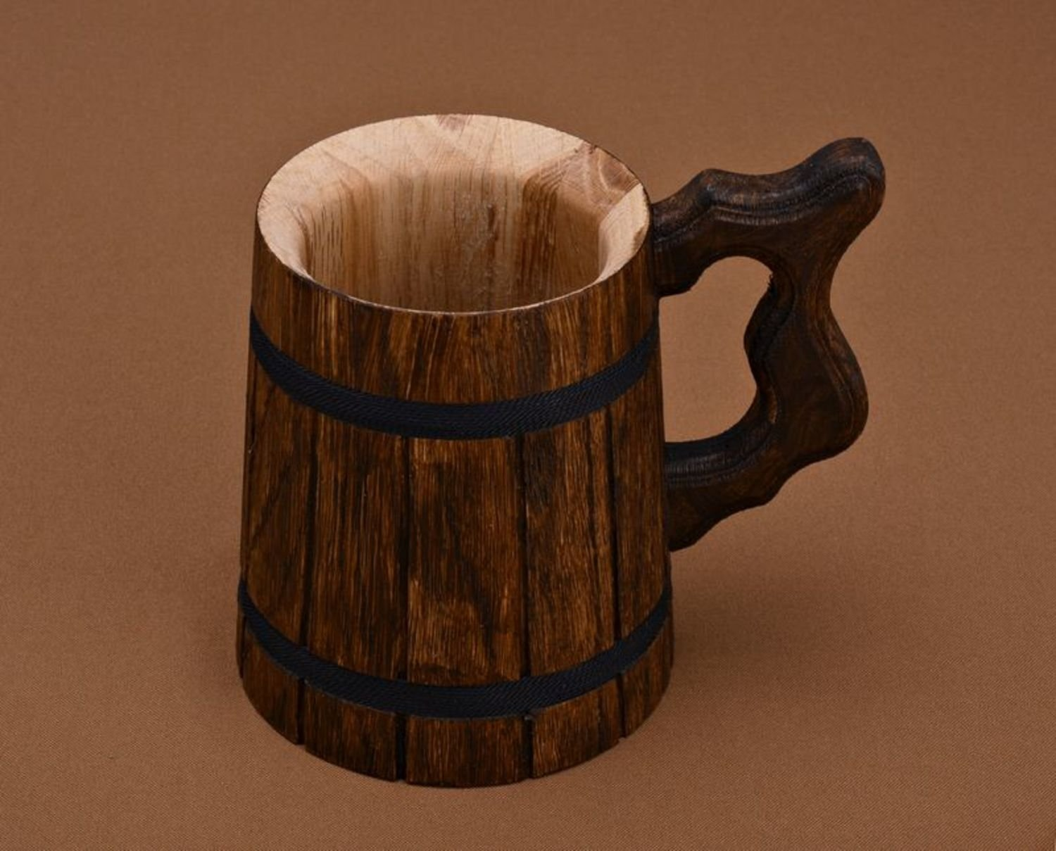 Decorative Handmade Beer Mug Made of Wood Eco Friendly Great Gift Ideas