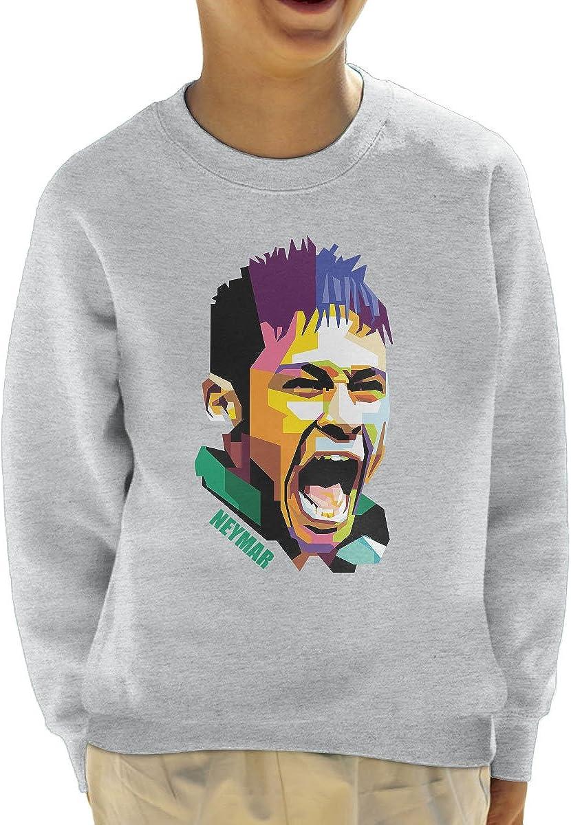 Coto7 Geometric Celebrity Neymar Kids Sweatshirt