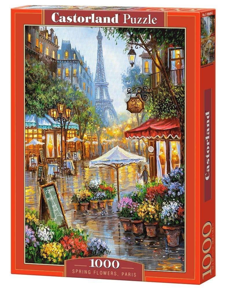 s - Rompecabezas Paris, Jigsaw Puzzle, Arte, Ni/ños y Adultos, Ni/ño//ni/ña, 9 a/ño , 680 mm Paris 1000pieza s CASTORLAND Spring Flowers