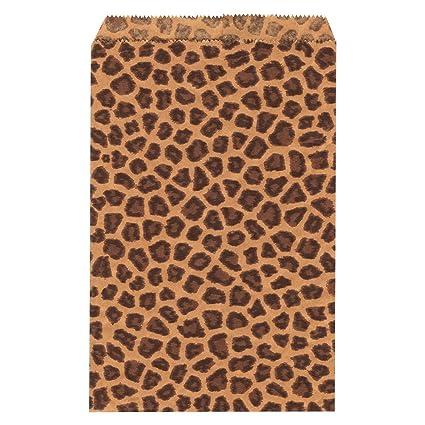 Amazon.com: ikee diseño ® 200 pcs Leopard Papel Bolsas De ...