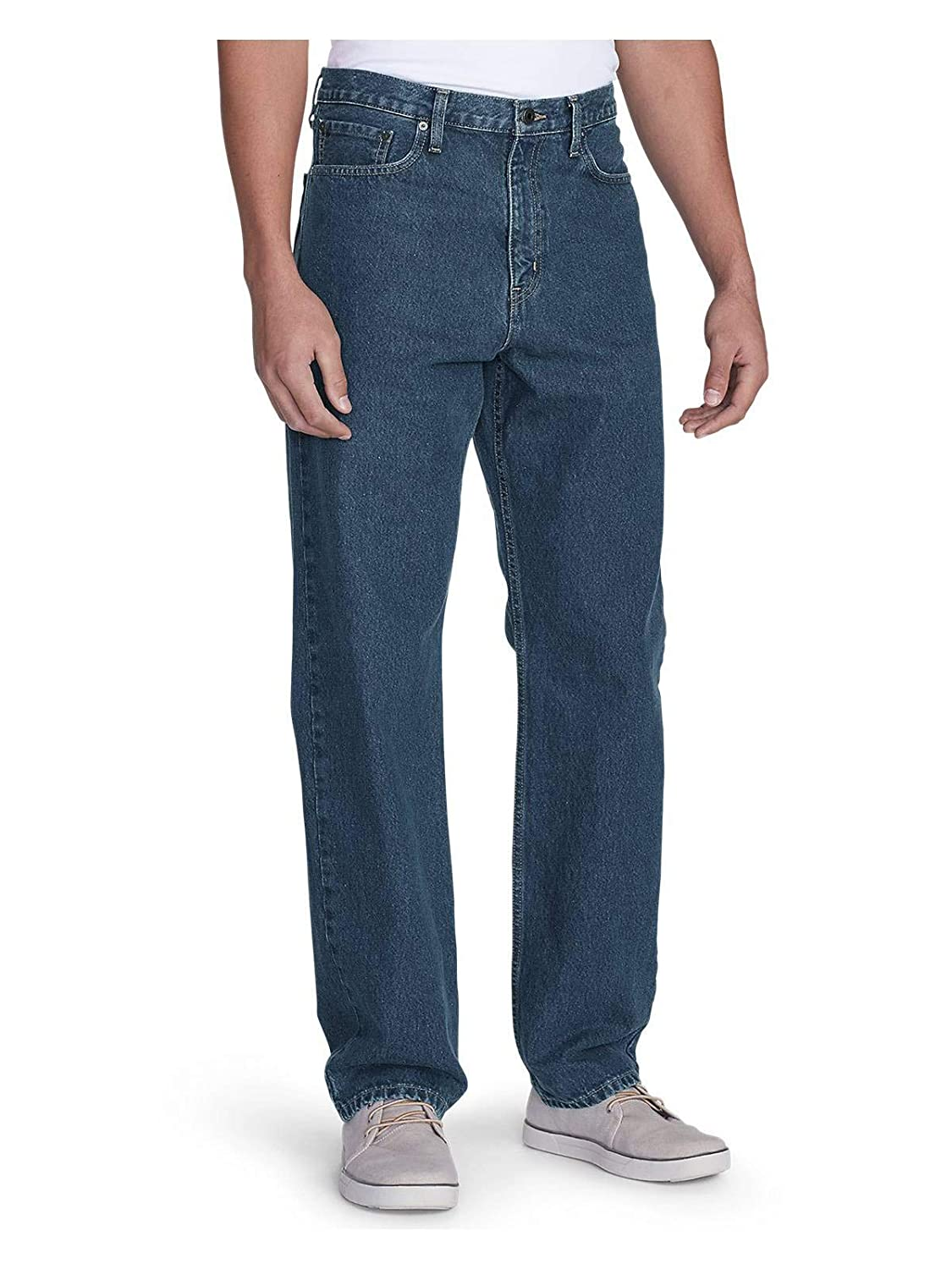 32b33928 Eddie Bauer Mens Traditional Fit Essential Jeans at Amazon Men's Clothing  store: