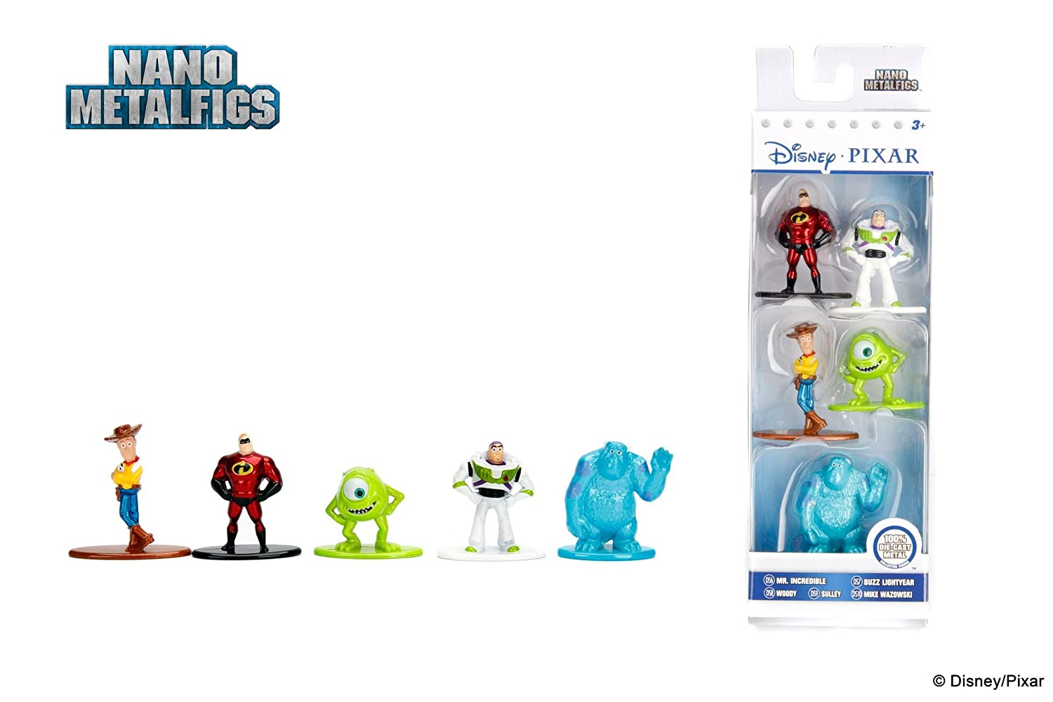 Nano Metalfigs Disney Bundle 10 Figures Total 1.65 Inch WD AYB