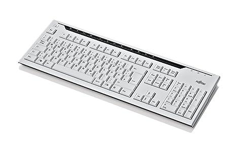 Fujitsu KB520 - Teclado USB y mármol de conducción eléctrica (teclado danés)