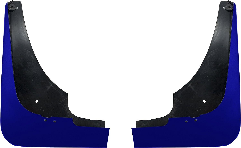 C6 Corvette 2pc Painted Rear Mud Flap Splash Guards Lemans Blue 19 19U WA933L