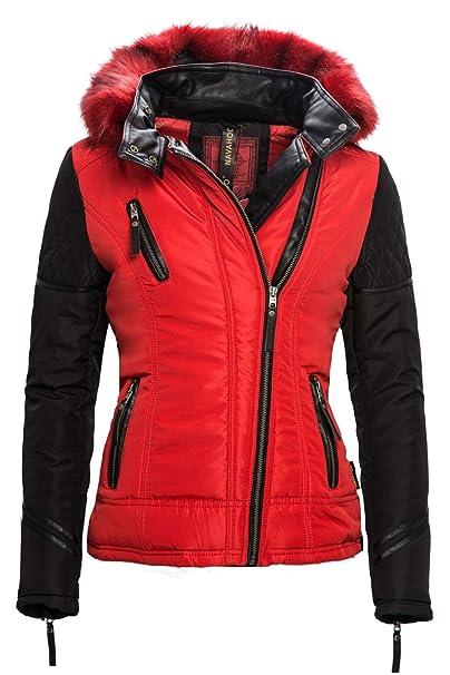 Navahoo Exclusive Damen Winter Jacke Parka Mantel Stepp Kurzjacke B317